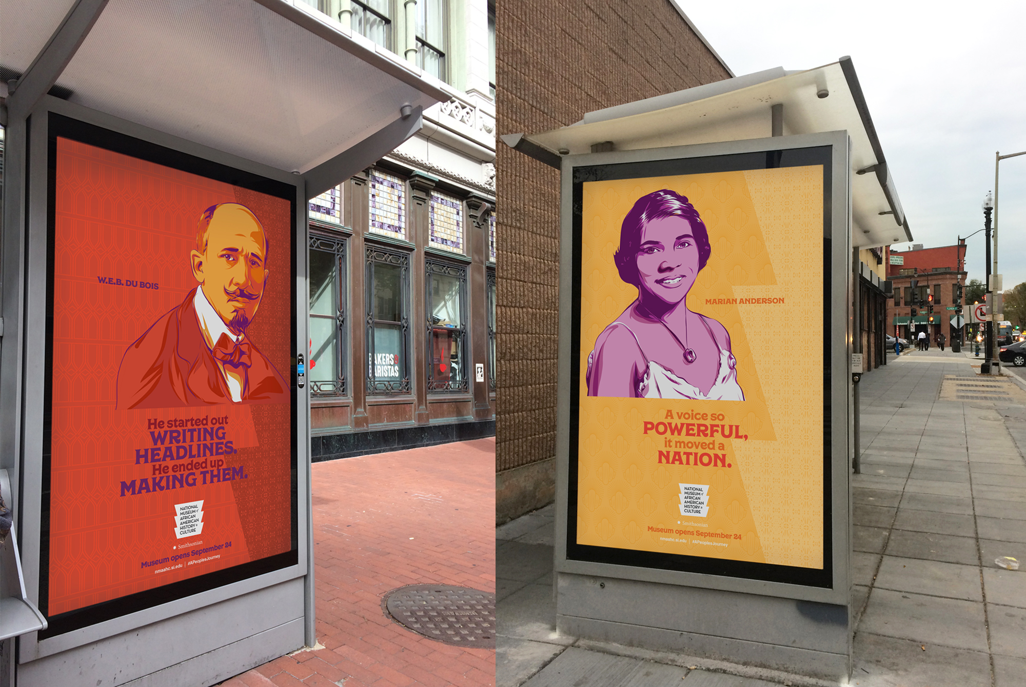 NMAAHC Outdoor Print Campaign by Eighty2degrees