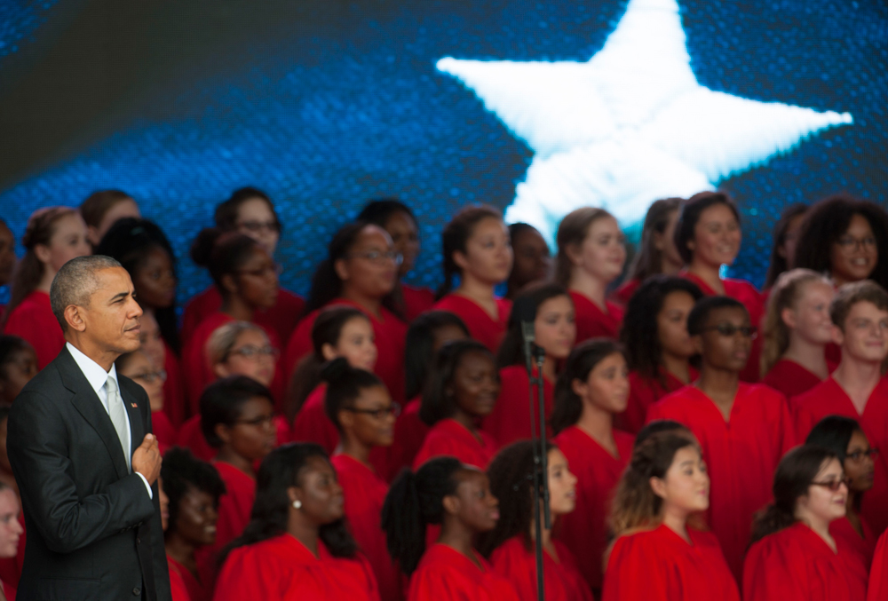 The Voices of Tomorrow choir is drawn from several high schools and performing arts schools in the D.C. area.